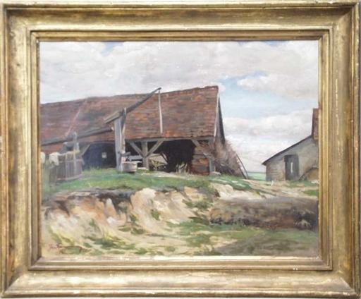 "Josef Franz WEINWURM - Peinture - ""Farm in Lower Austria"", Oil Painting, 1921"
