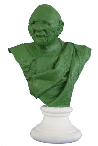 Julio LARRAZ - Skulptur Volumen - Emperor VI (Green Patina)