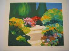 Jean-Claude ALLENBACH - Print-Multiple - Allée fleurie,1986.