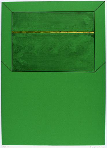 Karl Fred DAHMEN - Estampe-Multiple - Chiemgau-Grün (Raum)