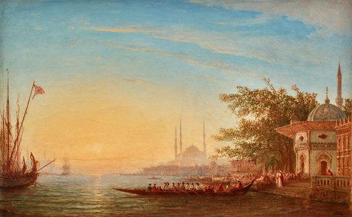 Félix ZIEM - Painting - Caique sur le Bosphore