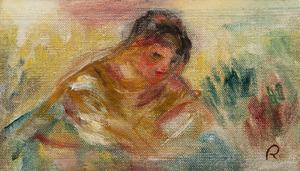 Pierre-Auguste RENOIR - Painting - Buste de femme