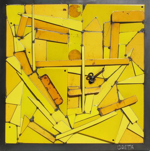 Fernando DA COSTA - Scultura Volume - Abstraction jaune