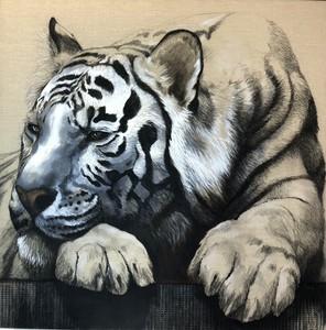 Florence CADENE - Painting - Tigre bleu