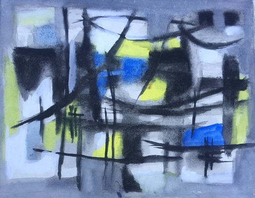 Ezechiel BAROUKH - Drawing-Watercolor - Sans titre, vers 1956