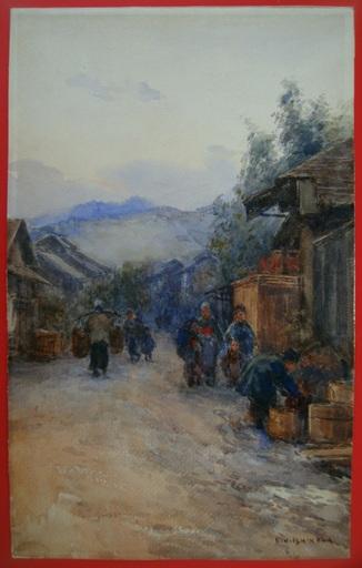 Kinichiro ISHIKAWA - Drawing-Watercolor - Market day