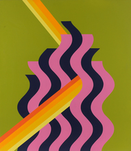 Mohammed MELEHI - Painting - Pink Flame