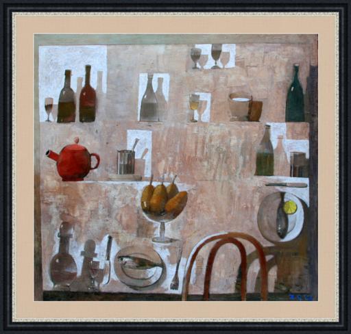 Zurab GIKASHVILI - Painting - Still life with pears