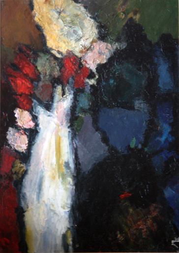 Levan URUSHADZE - Pittura - Still life with white vase
