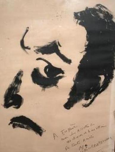 Marcel MARCEAU - Drawing-Watercolor - le mime Marceau