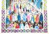 Mohamed BEN ALI R'BATI - Dessin-Aquarelle - MAROC- Pèlerinage - fête