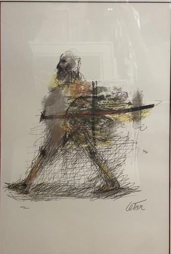 CÉSAR - Grabado - L'homme qui marche