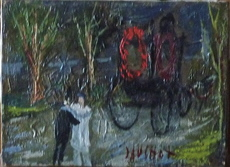 Gabriel DAUCHOT - Peinture - L'Enterrement