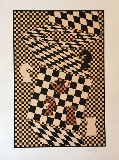 Victor VASARELY - Estampe-Multiple - The Chess Board