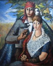 Pere CREIXAMS PICO - Pintura - Couple Camarguais