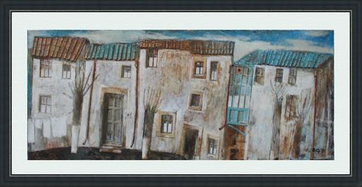 Zurab GIKASHVILI - Gemälde - Blue roofs