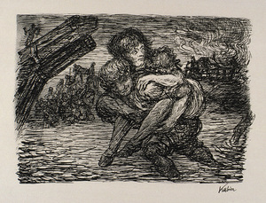 Alfred KUBIN - Print-Multiple - Rettung