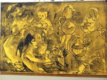 Mino MACCARI - Drawing-Watercolor - 3 disegni