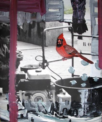 Juan UGALDE - Pintura - Loro rojo