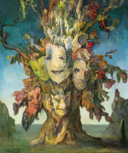 Tibor DENGYEL - Peinture - Arbre insolite