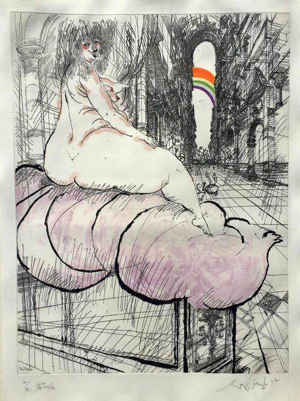 Ronald SEARLE - Print-Multiple - THE TEMPLE