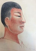 迭戈·里维拉 - 水彩作品 - Porträt