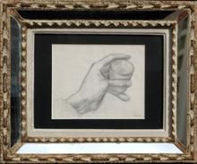 Henri GOETZ - Disegno Acquarello - MAIN AU VERRE