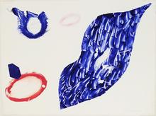 山姆•弗朗西斯 - 版画 - Unique monotype from the Baby Lips series