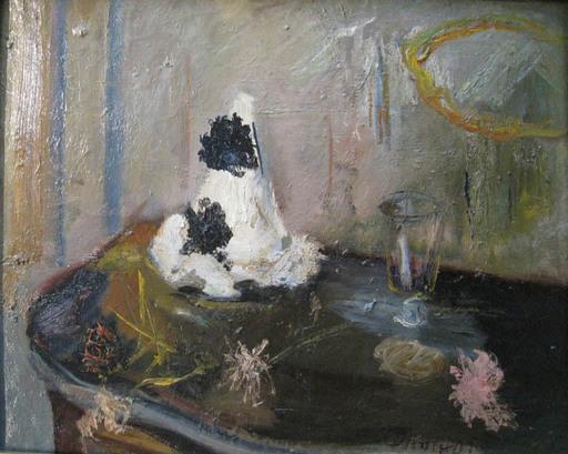 Gabriel DAUCHOT - Pintura - Nature morte aux chapeau de Pierrot