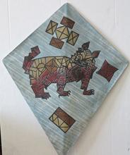Francisco TOLEDO - Peinture - Abstract Geometric dog kite