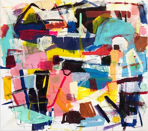 Yevgen LISNIAK - Painting - Untitled 3 (Abstract painting)