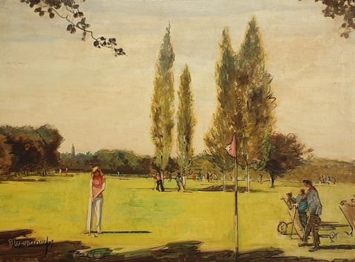 Rafael DURANCAMPS - Gemälde - Jugando a Golf