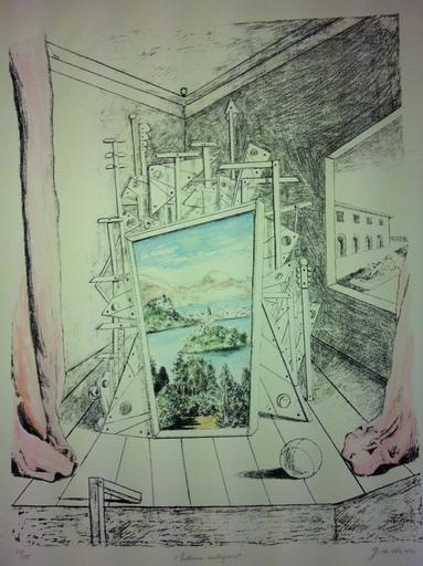 Giorgio DE CHIRICO - Stampa-Multiplo - Interno metafisico 1969
