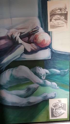 Lucien MASSAERT - Pintura - En dessous du volcan - Under the volcano