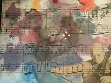 Modesto CUIXART - Pintura - Homenaje a Pau Casals