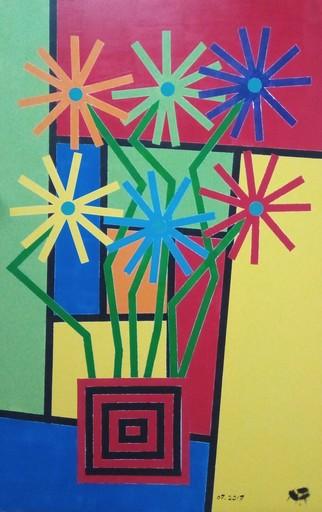 Harry BARTLETT FENNEY - Pittura - six sunflowers