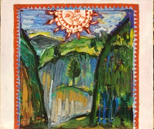 """Mikhail LARIONOV - Pintura - Draft of a curtain for """"Le Soleil de Minuit"""""""