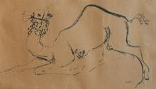 Reuven RUBIN - Dibujo Acuarela - Camel