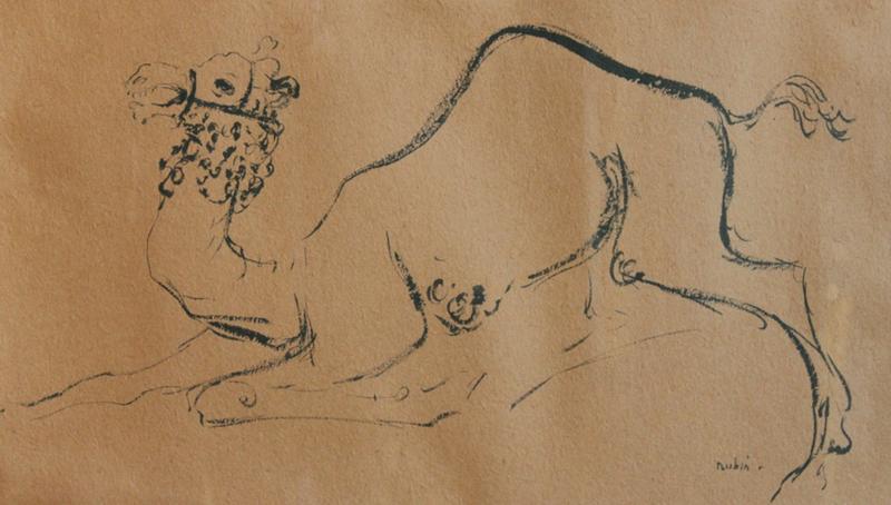 Reuven RUBIN - Drawing-Watercolor - Camel