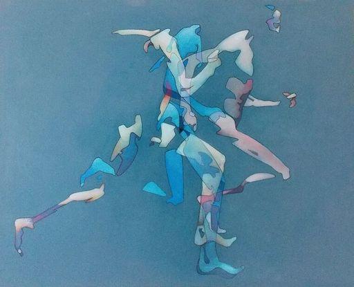 Milburn FOSTER - Peinture - Man Running 2