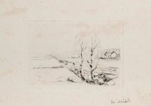 Edvard MUNCH - Grabado - Norwegian Landscape