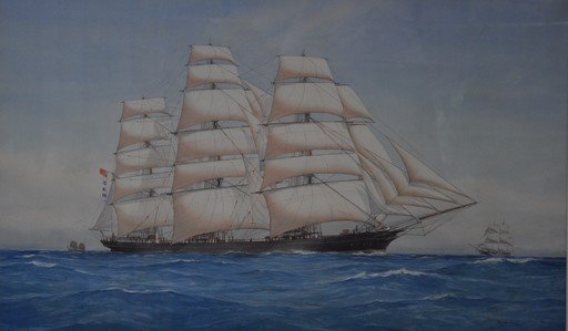 Pelham JONES - Drawing-Watercolor - The Cutty sark