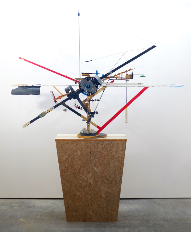 Jeroen FRATEUR - Scultura Volume - Something like a Construction Crane 'Moulin Rouge'
