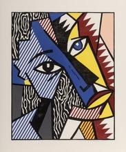 Roy LICHTENSTEIN - Print-Multiple - Head, from Expressionist Woodcut Series
