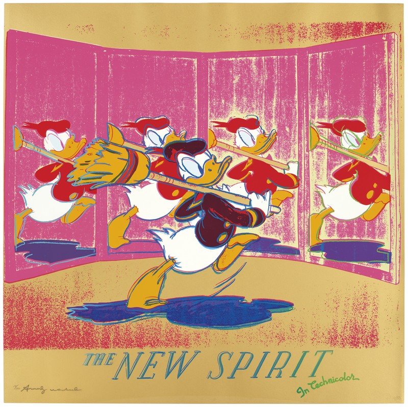 Andy WARHOL - Stampa Multiplo - The New Spirit (Donald Duck) F&S II.357