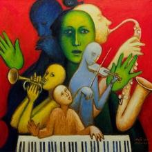 Alexander TOKAREV - Pintura - Goddess of Jazz, from the Man-Orchestra series