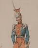 Noël-Dieudonné FINART - Disegno Acquarello - Uniforms of the French Lancers, epoque Restoration