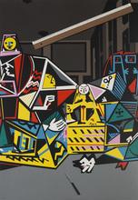 EQUIPO CRÓNICA - Print-Multiple - Interior con regla (Serie Composiciones)