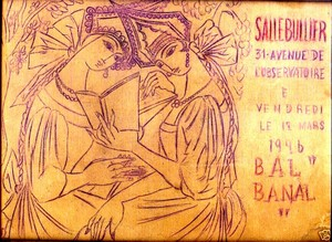 Nathalie GONTCHAROVA, Draft of a poster for a second Bal Banal