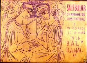 Nathalie GONTCHAROVA - Dibujo Acuarela - Draft of a poster for a second Bal Banal